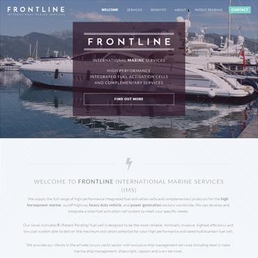 Frontline Marine website screenshot
