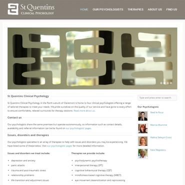 St Quentins Clinical Psychology website screenshot